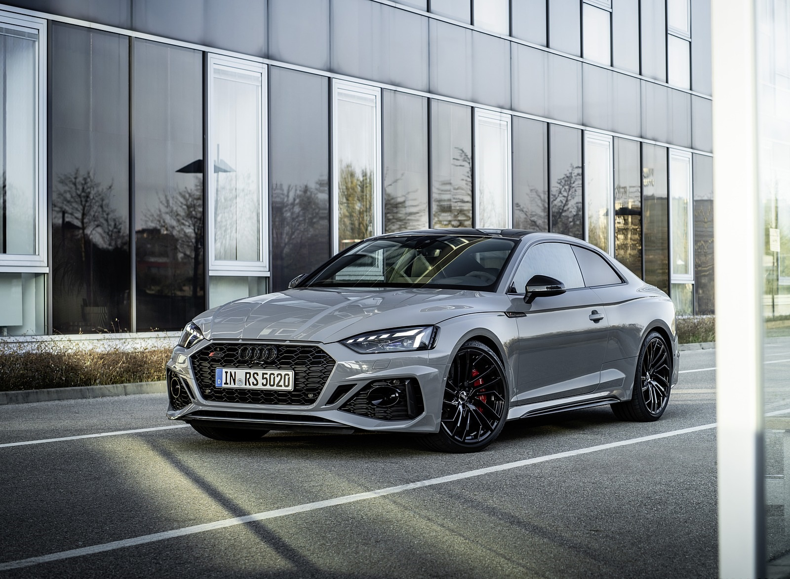 2020 Audi RS 5 Coupe (Color: Nardo Gray) Front Three-Quarter Wallpapers (7)