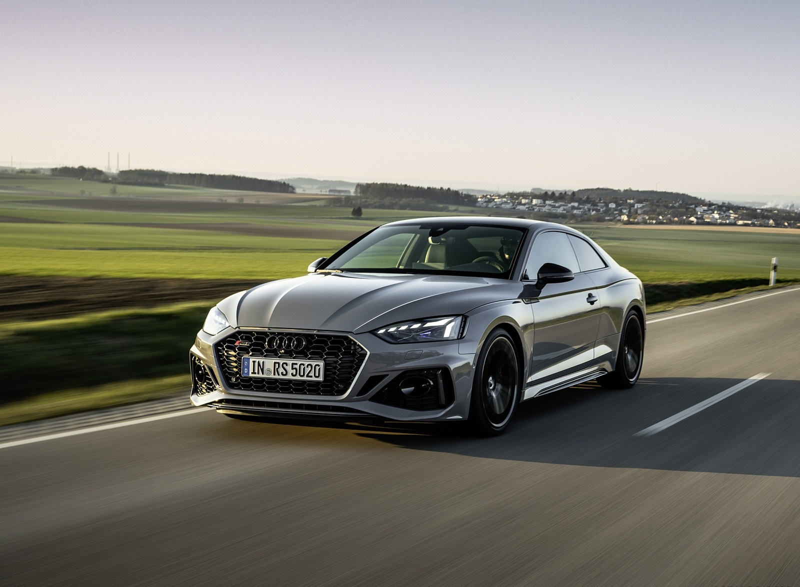 2020 Audi RS 5 Coupe (Color: Nardo Gray) Front Three-Quarter Wallpapers (4)