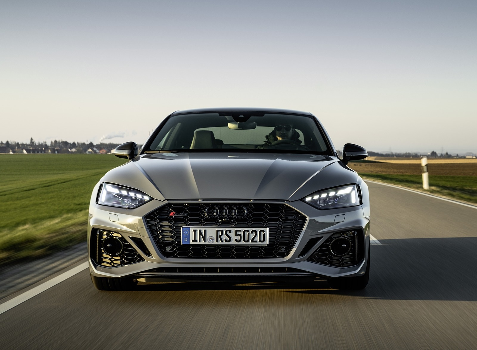 2020 Audi RS 5 Coupe (Color: Nardo Gray) Front Wallpapers (2)