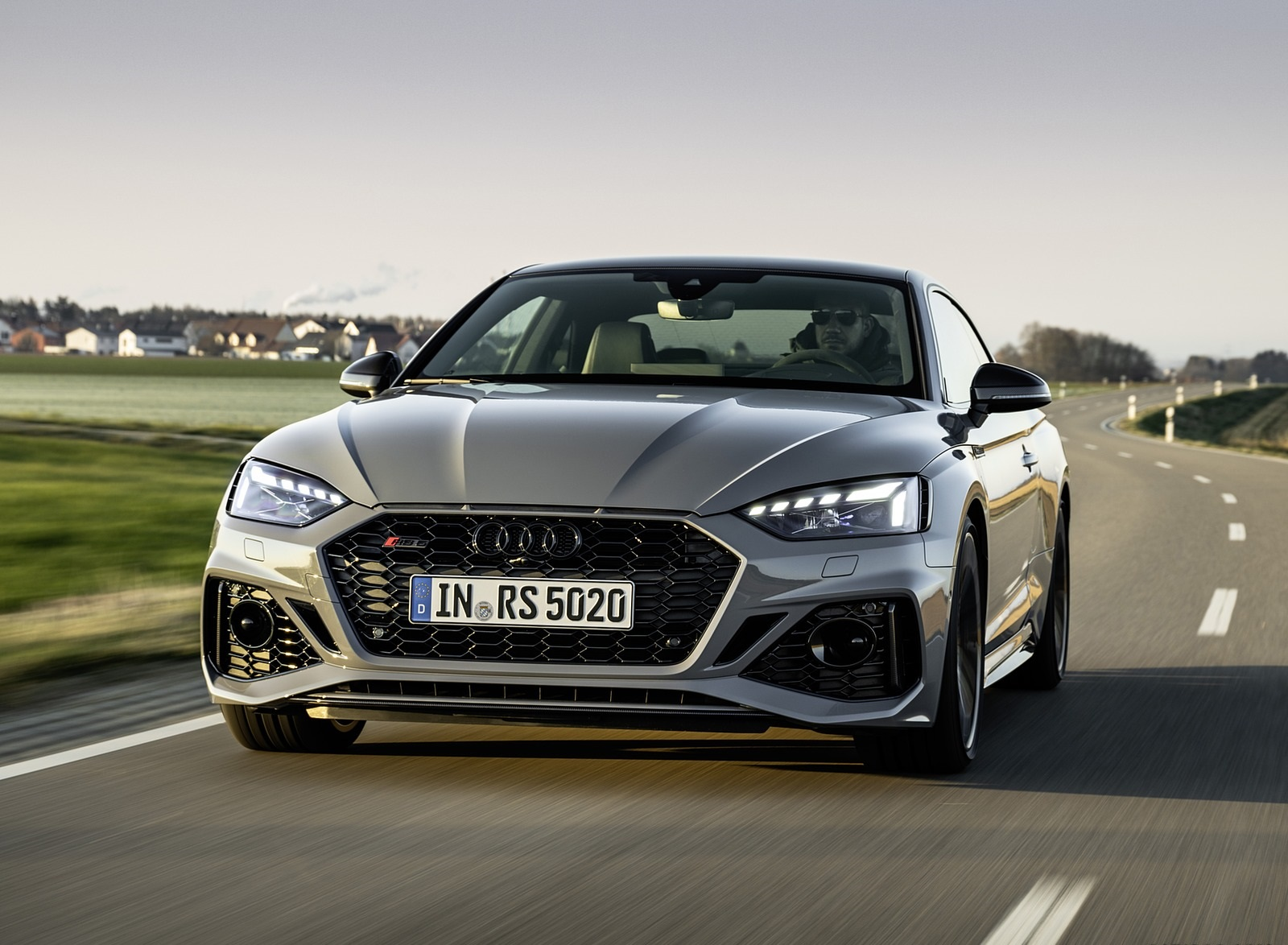 2020 Audi RS 5 Coupe (Color: Nardo Gray) Front Wallpapers (3)