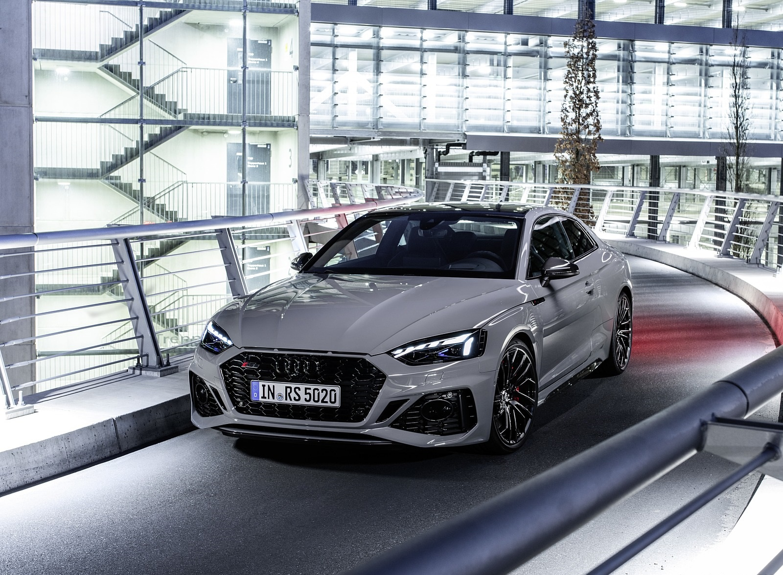 2020 Audi RS 5 Coupe (Color: Nardo Gray) Front Wallpapers (9)