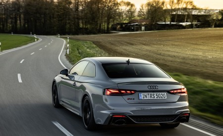 2020 Audi RS 5 Coupe (Color: Nardo Gray) Rear Three-Quarter Wallpapers 450x275 (13)