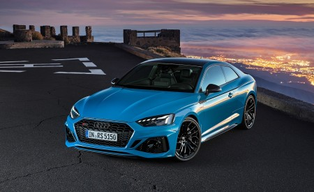 2020 Audi RS 5 Coupe (Color: Turbo Blue) Front Three-Quarter Wallpapers 450x275 (12)