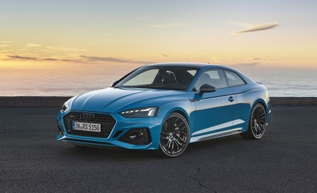 2020 Audi RS 5 Coupe (Color: Turbo Blue) Front Three-Quarter Wallpapers 450x275 (6)