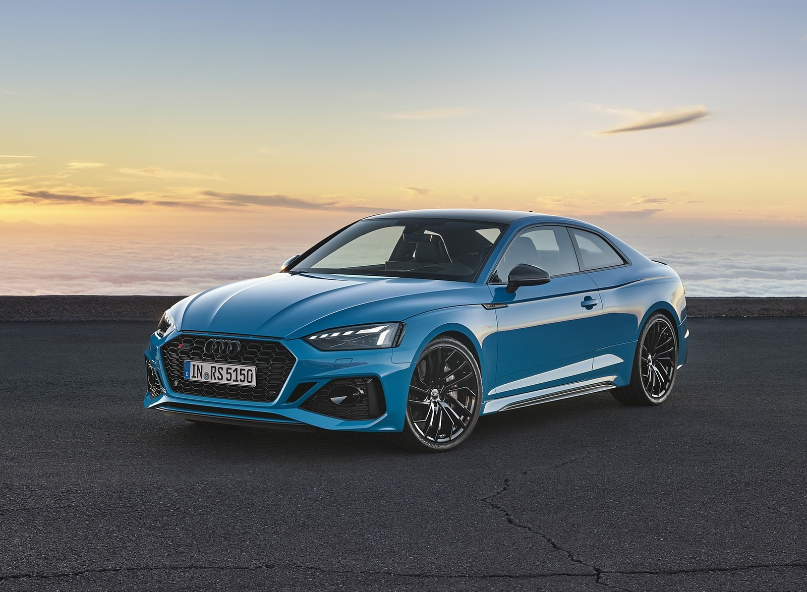 2020 Audi RS 5 Coupe (Color: Turbo Blue) Front Three-Quarter Wallpapers (6)