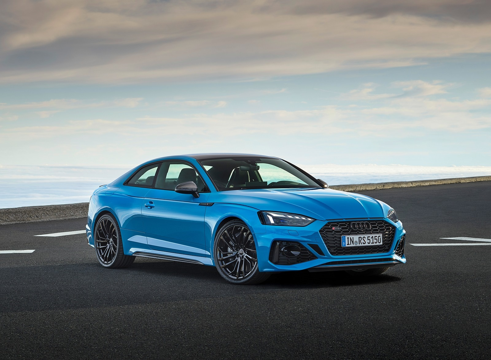 2020 Audi RS 5 Coupe (Color: Turbo Blue) Front Three-Quarter Wallpapers (7)