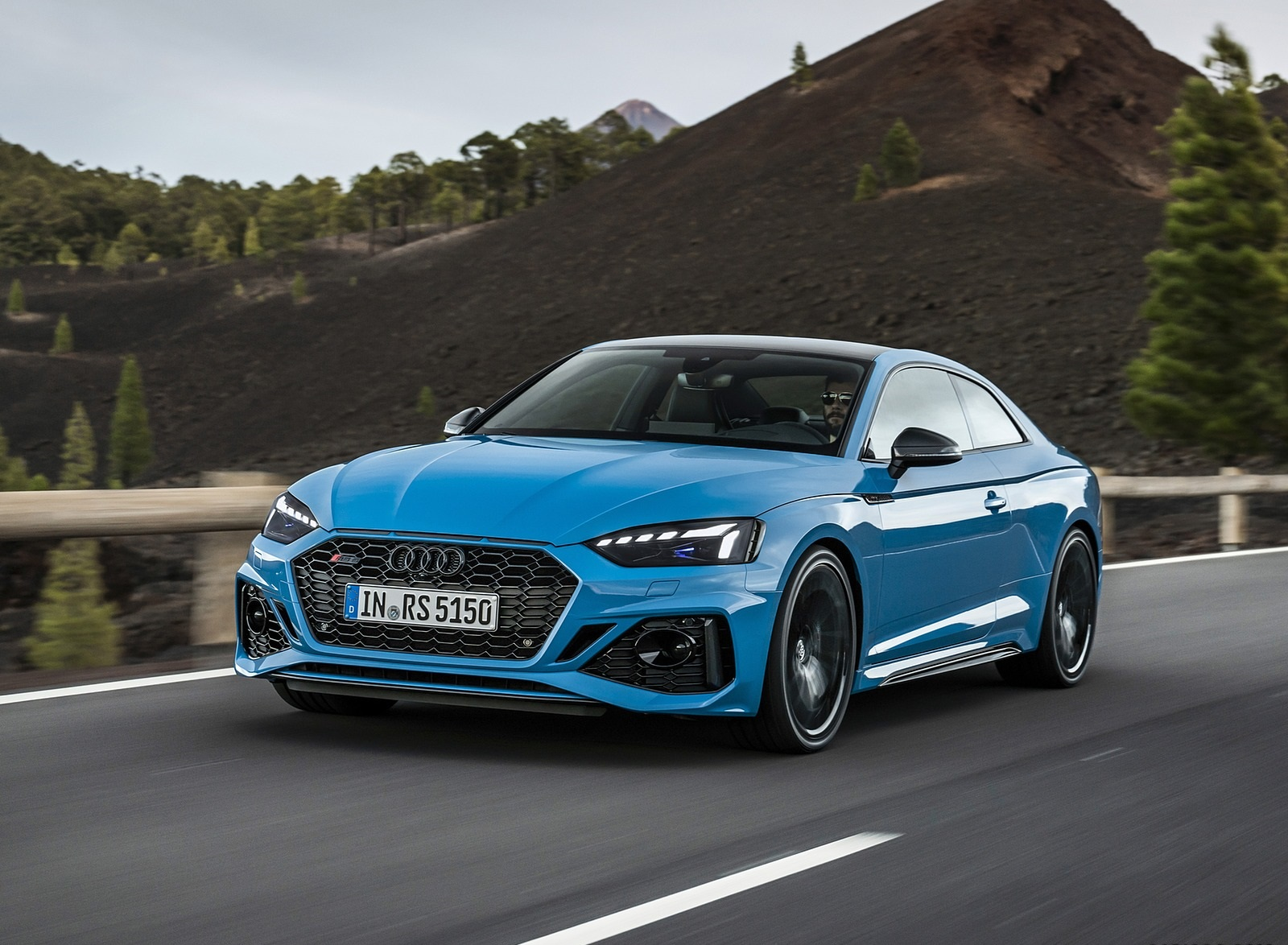 2020 Audi RS 5 Coupe (Color: Turbo Blue) Front Three-Quarter Wallpapers (1)