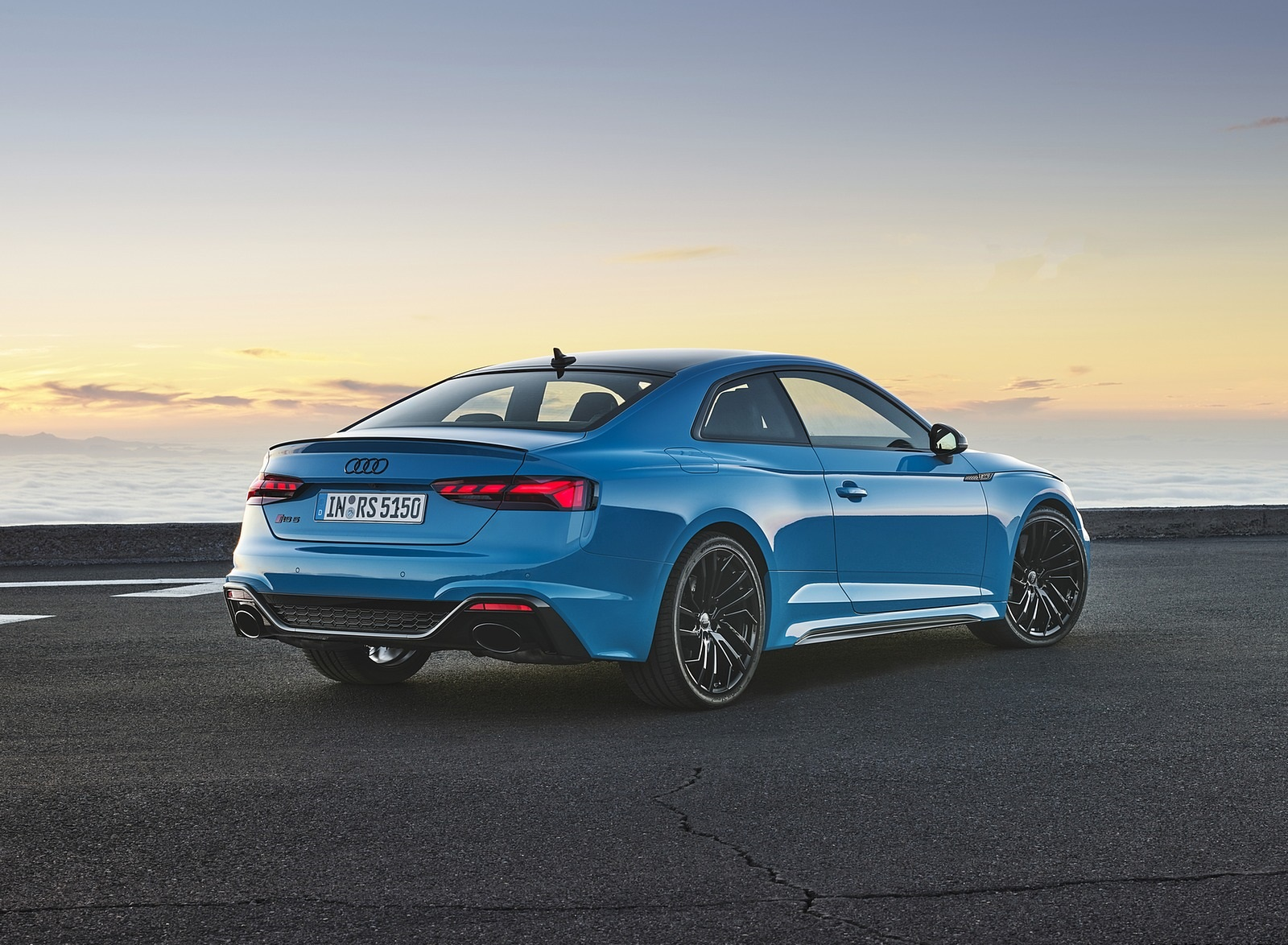 2020 Audi RS 5 Coupe (Color: Turbo Blue) Rear Three-Quarter Wallpapers (9)
