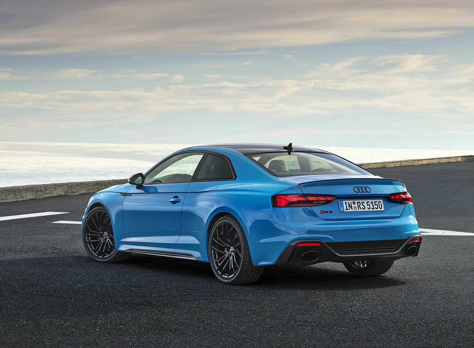 2020 Audi RS 5 Coupe (Color: Turbo Blue) Rear Three-Quarter Wallpapers (10)