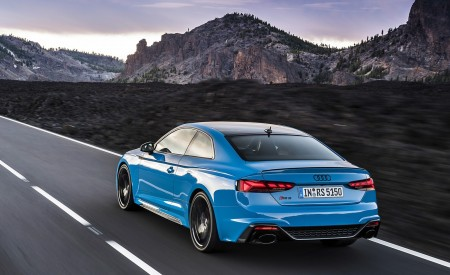 2020 Audi RS 5 Coupe (Color: Turbo Blue) Rear Three-Quarter Wallpapers 450x275 (2)