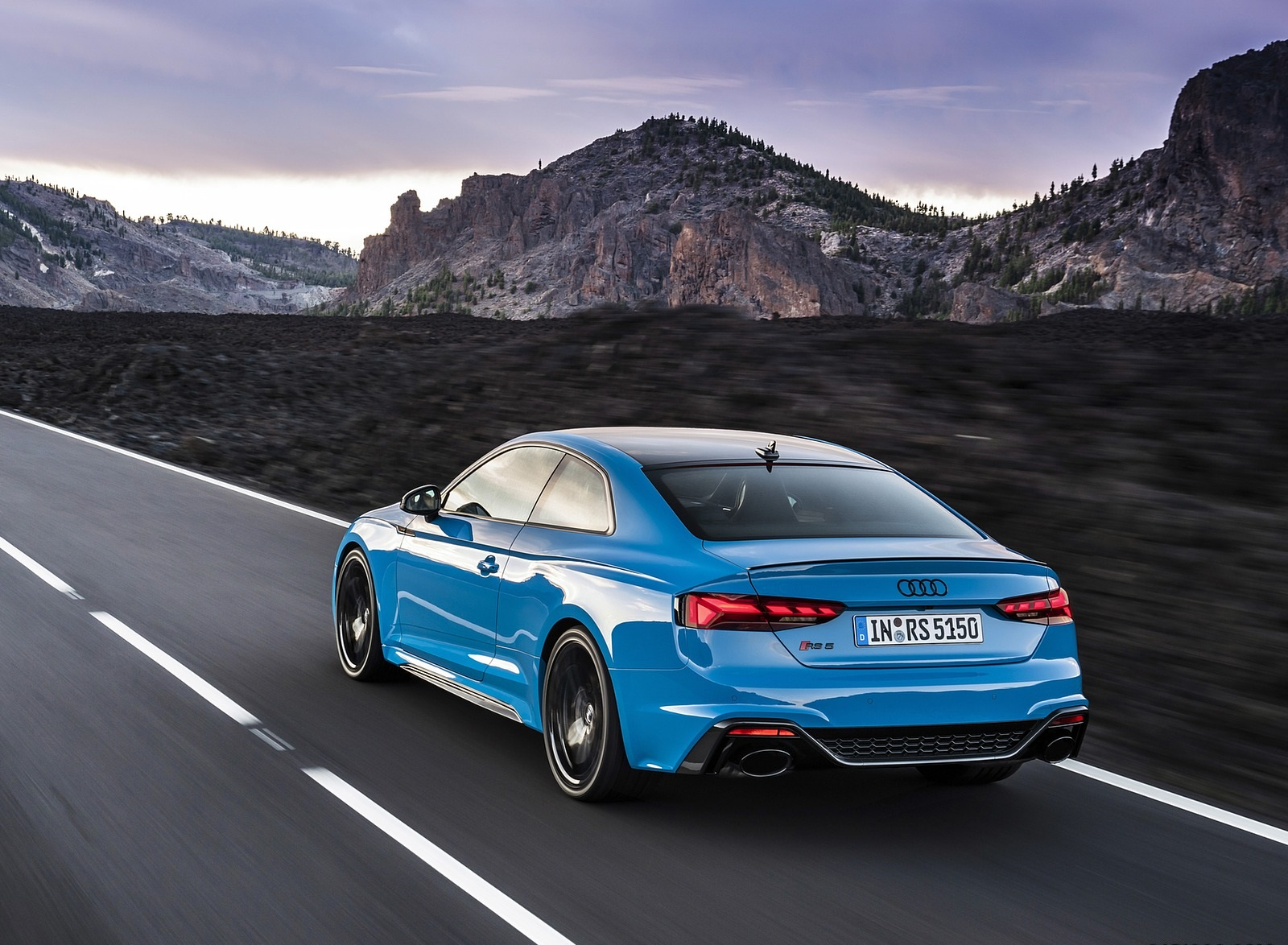 2020 Audi RS 5 Coupe (Color: Turbo Blue) Rear Three-Quarter Wallpapers (2)