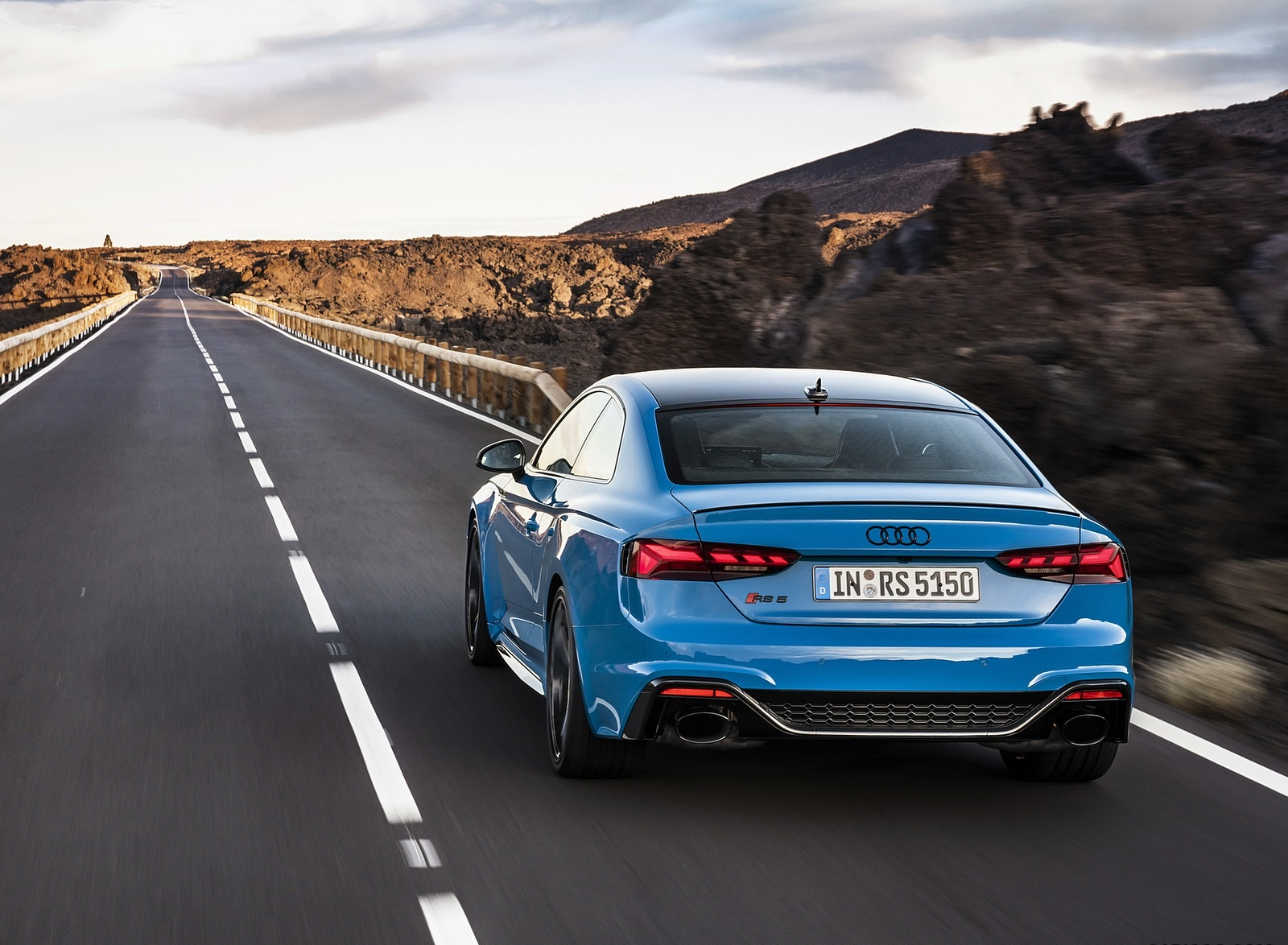 2020 Audi RS 5 Coupe (Color: Turbo Blue) Rear Wallpapers (4)