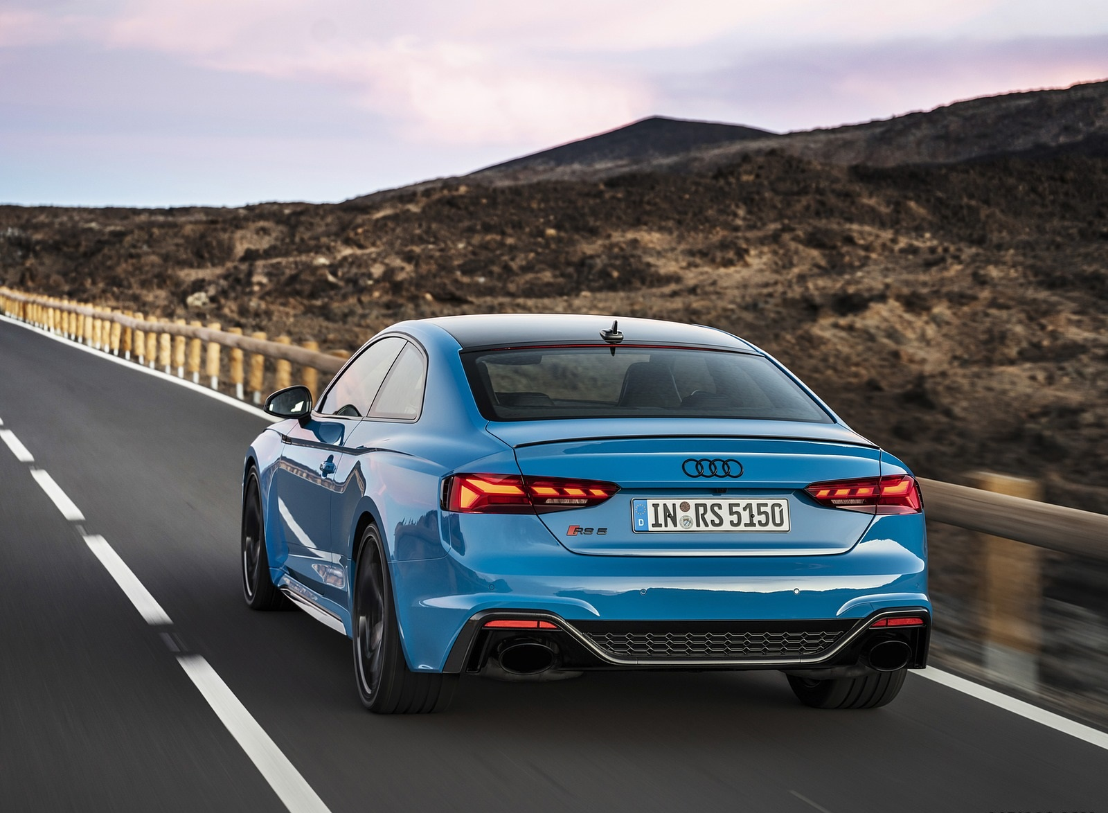 2020 Audi RS 5 Coupe (Color: Turbo Blue) Rear Wallpapers (5)
