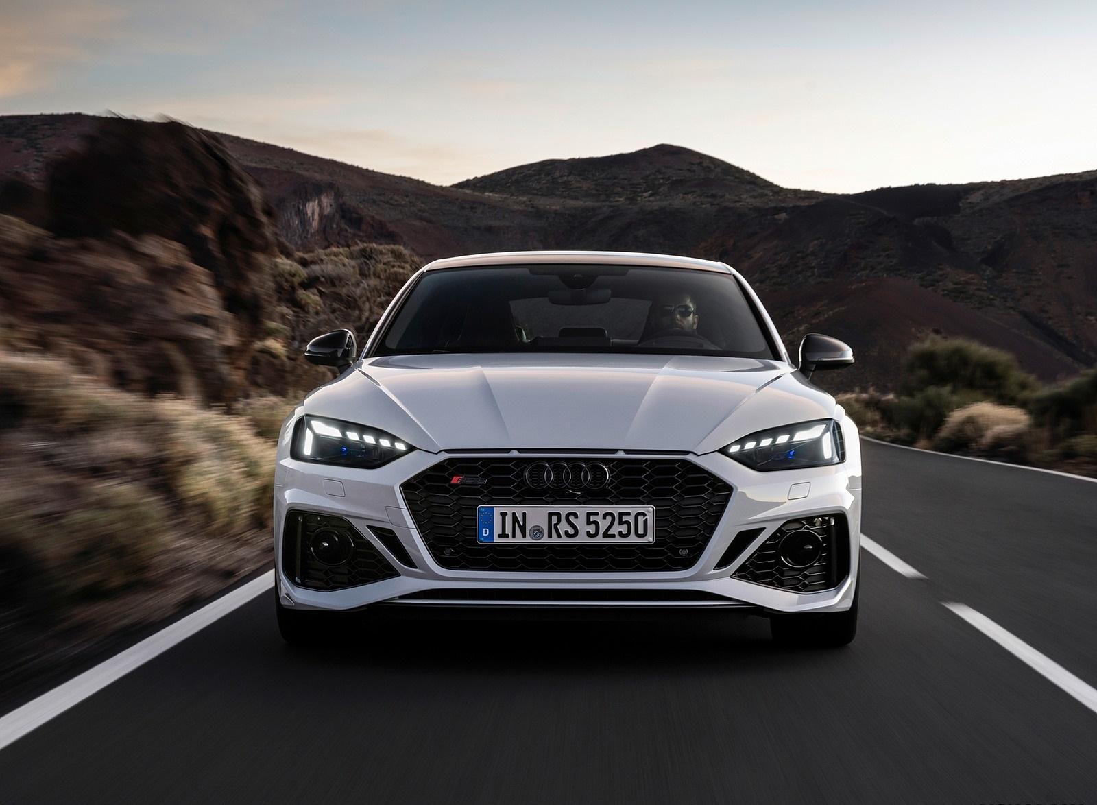2020 Audi RS 5 Sportback (Color: Glacier White) Front Wallpapers (5)