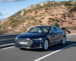 2020 Audi S8 (Color: Navarra Blue) Front Three-Quarter Wallpapers 150x120 (27)
