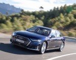 2020 Audi S8 (Color: Navarra Blue) Front Three-Quarter Wallpapers 150x120 (14)