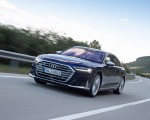 2020 Audi S8 (Color: Navarra Blue) Front Three-Quarter Wallpapers 150x120 (1)