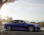 2020 Audi S8 (Color: Navarra Blue) Front Three-Quarter Wallpapers 150x120 (33)
