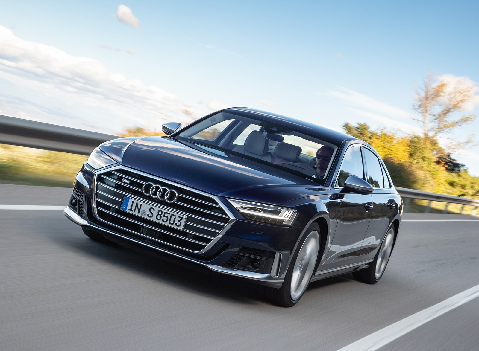 2020 Audi S8 (Color: Navarra Blue) Front Wallpapers (10)