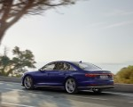 2020 Audi S8 (Color: Navarra Blue) Rear Three-Quarter Wallpapers 150x120 (40)
