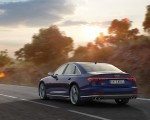 2020 Audi S8 (Color: Navarra Blue) Rear Three-Quarter Wallpapers 150x120 (21)