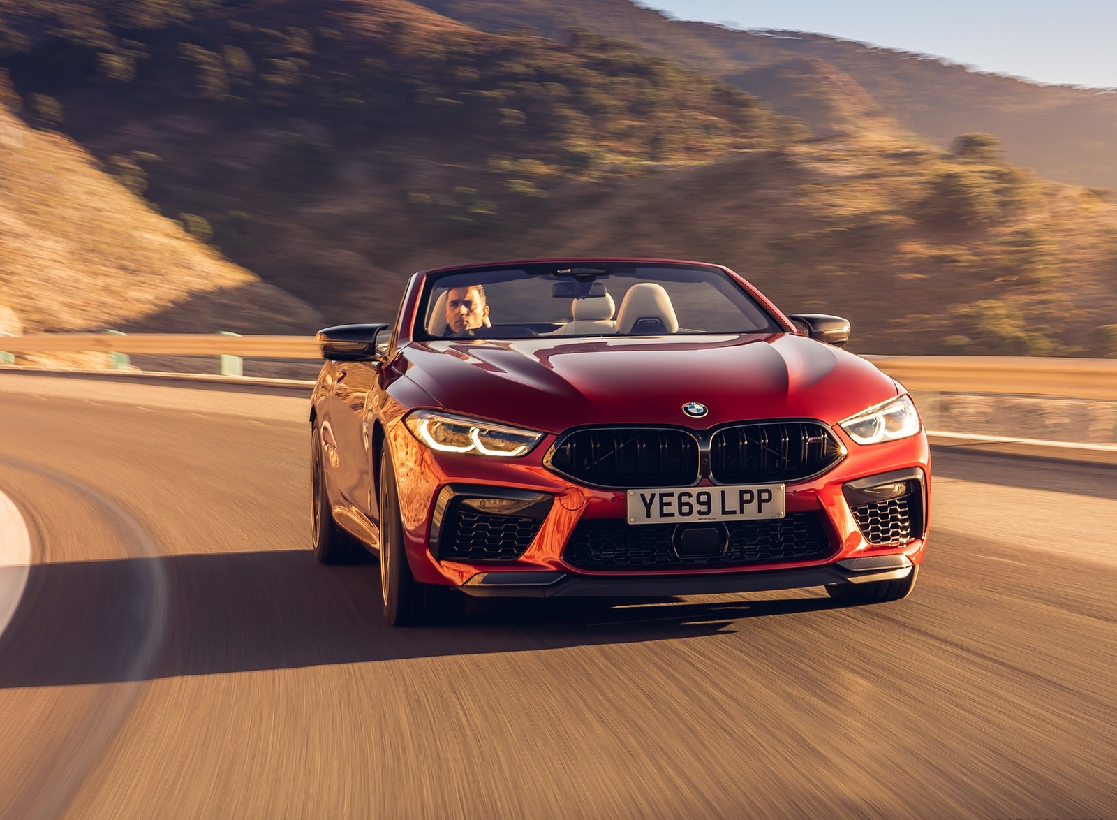 2020 BMW M8 Competition Convertible (UK-Spec) Front Wallpapers (1)
