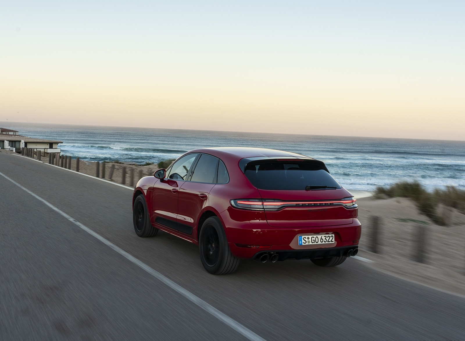 2020 Porsche Macan GTS (Color: Carmine Red) Rear Three-Quarter Wallpapers (7)