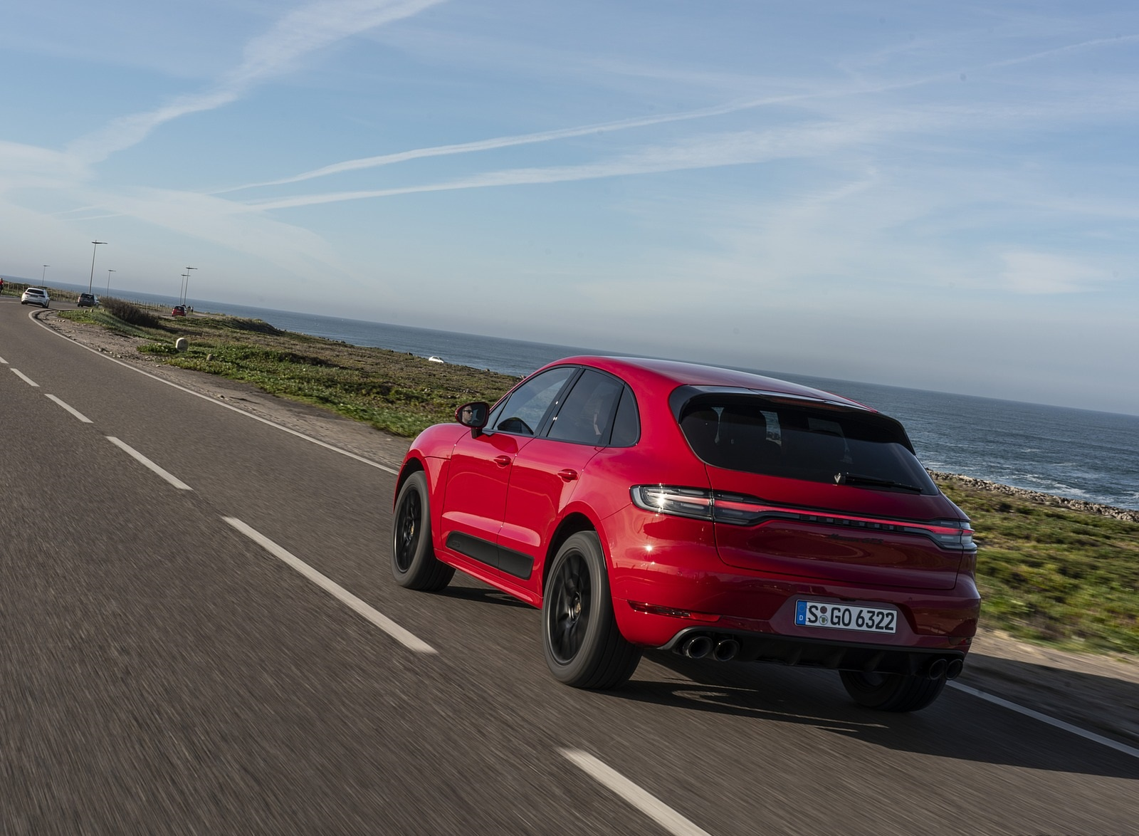 2020 Porsche Macan GTS (Color: Carmine Red) Rear Three-Quarter Wallpapers (10)