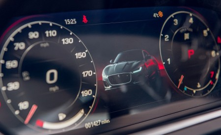 2021 Jaguar F-TYPE Coupe R-Dynamic P450 AWD (Color: Eiger Grey) Digital Instrument Cluster Wallpapers 450x275 (92)