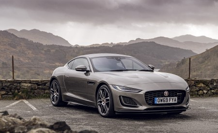 2021 Jaguar F-TYPE Coupe R-Dynamic P450 AWD (Color: Eiger Grey) Front Three-Quarter Wallpapers 450x275 (51)
