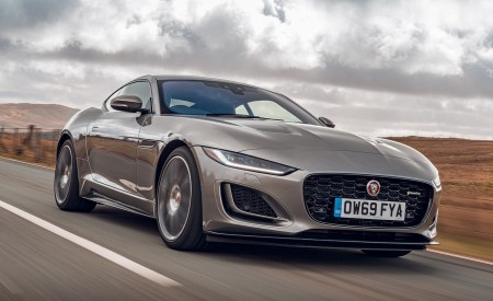 2021 Jaguar F-TYPE Coupe R-Dynamic P450 AWD (Color: Eiger Grey) Front Three-Quarter Wallpapers 450x275 (45)