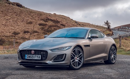 2021 Jaguar F-TYPE Coupe R-Dynamic P450 AWD (Color: Eiger Grey) Front Three-Quarter Wallpapers 450x275 (52)