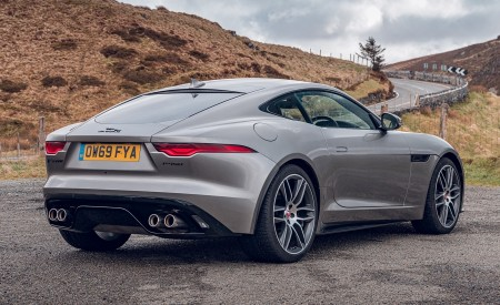 2021 Jaguar F-TYPE Coupe R-Dynamic P450 AWD (Color: Eiger Grey) Rear Three-Quarter Wallpapers 450x275 (53)