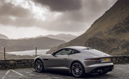 2021 Jaguar F-TYPE Coupe R-Dynamic P450 AWD (Color: Eiger Grey) Rear Three-Quarter Wallpapers 450x275 (54)