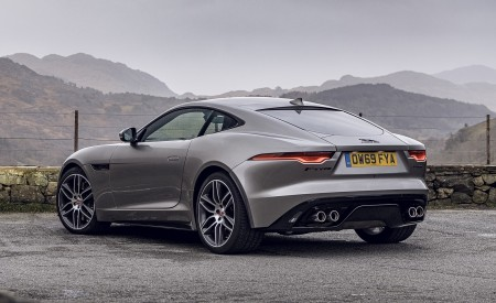 2021 Jaguar F-TYPE Coupe R-Dynamic P450 AWD (Color: Eiger Grey) Rear Three-Quarter Wallpapers 450x275 (55)