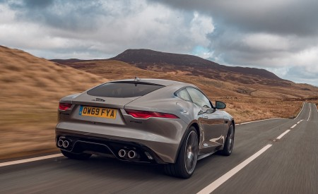 2021 Jaguar F-TYPE Coupe R-Dynamic P450 AWD (Color: Eiger Grey) Rear Wallpapers 450x275 (48)