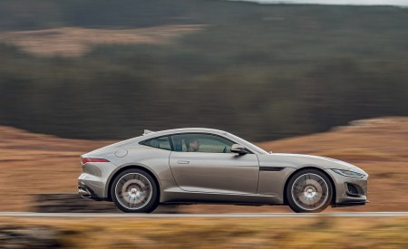 2021 Jaguar F-TYPE Coupe R-Dynamic P450 AWD (Color: Eiger Grey) Side Wallpapers 450x275 (49)
