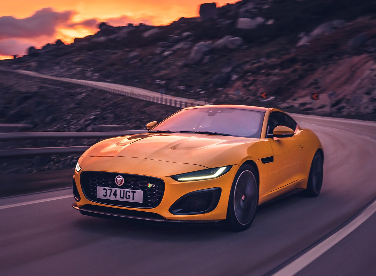 2021 Jaguar F-TYPE R Coupe AWD (Color: Sorrento Yellow) Front Three-Quarter Wallpapers (10)