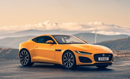 2021 Jaguar F-TYPE R Coupe AWD (Color: Sorrento Yellow) Front Three-Quarter Wallpapers 450x275 (21)