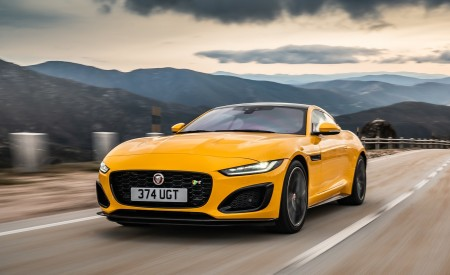 2021 Jaguar F-TYPE R Coupe AWD (Color: Sorrento Yellow) Front Three-Quarter Wallpapers 450x275 (1)