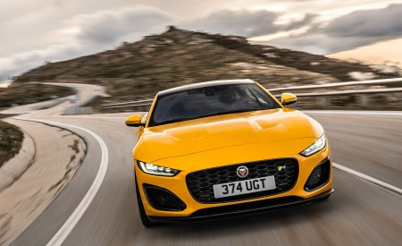 2021 Jaguar F-TYPE R Coupe AWD (Color: Sorrento Yellow) Front Wallpapers 450x275 (3)