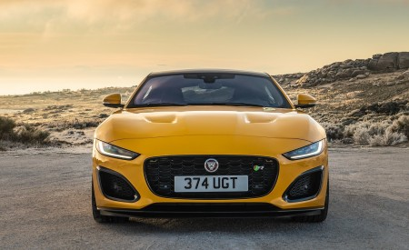 2021 Jaguar F-TYPE R Coupe AWD (Color: Sorrento Yellow) Front Wallpapers 450x275 (22)