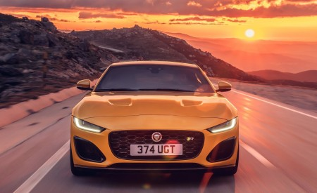 2021 Jaguar F-TYPE R Coupe AWD (Color: Sorrento Yellow) Front Wallpapers 450x275 (14)