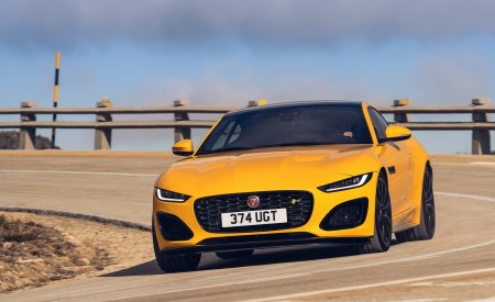2021 Jaguar F-TYPE R Coupe AWD (Color: Sorrento Yellow) Front Wallpapers 450x275 (4)