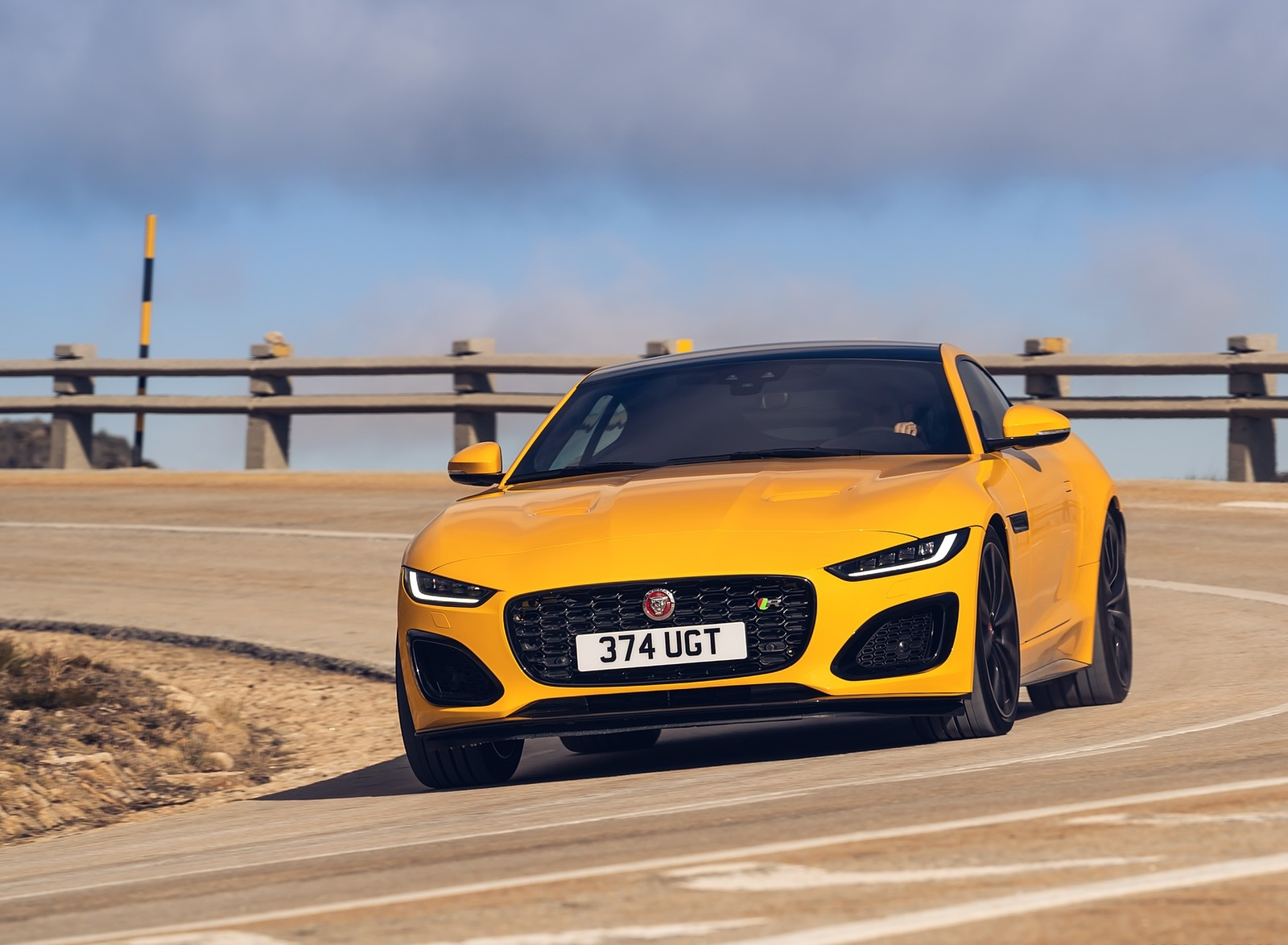 2021 Jaguar F-TYPE R Coupe AWD (Color: Sorrento Yellow) Front Wallpapers (4)
