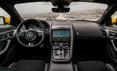 2021 Jaguar F-TYPE R Coupe AWD (Color: Sorrento Yellow) Interior Cockpit Wallpapers 450x275 (35)