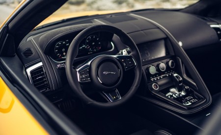 2021 Jaguar F-TYPE R Coupe AWD (Color: Sorrento Yellow) Interior Wallpapers 450x275 (38)