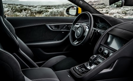 2021 Jaguar F-TYPE R Coupe AWD (Color: Sorrento Yellow) Interior Wallpapers 450x275 (36)
