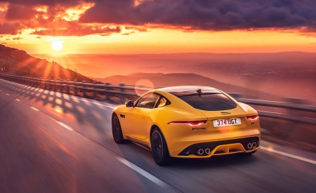 2021 Jaguar F-TYPE R Coupe AWD (Color: Sorrento Yellow) Rear Three-Quarter Wallpapers 450x275 (15)