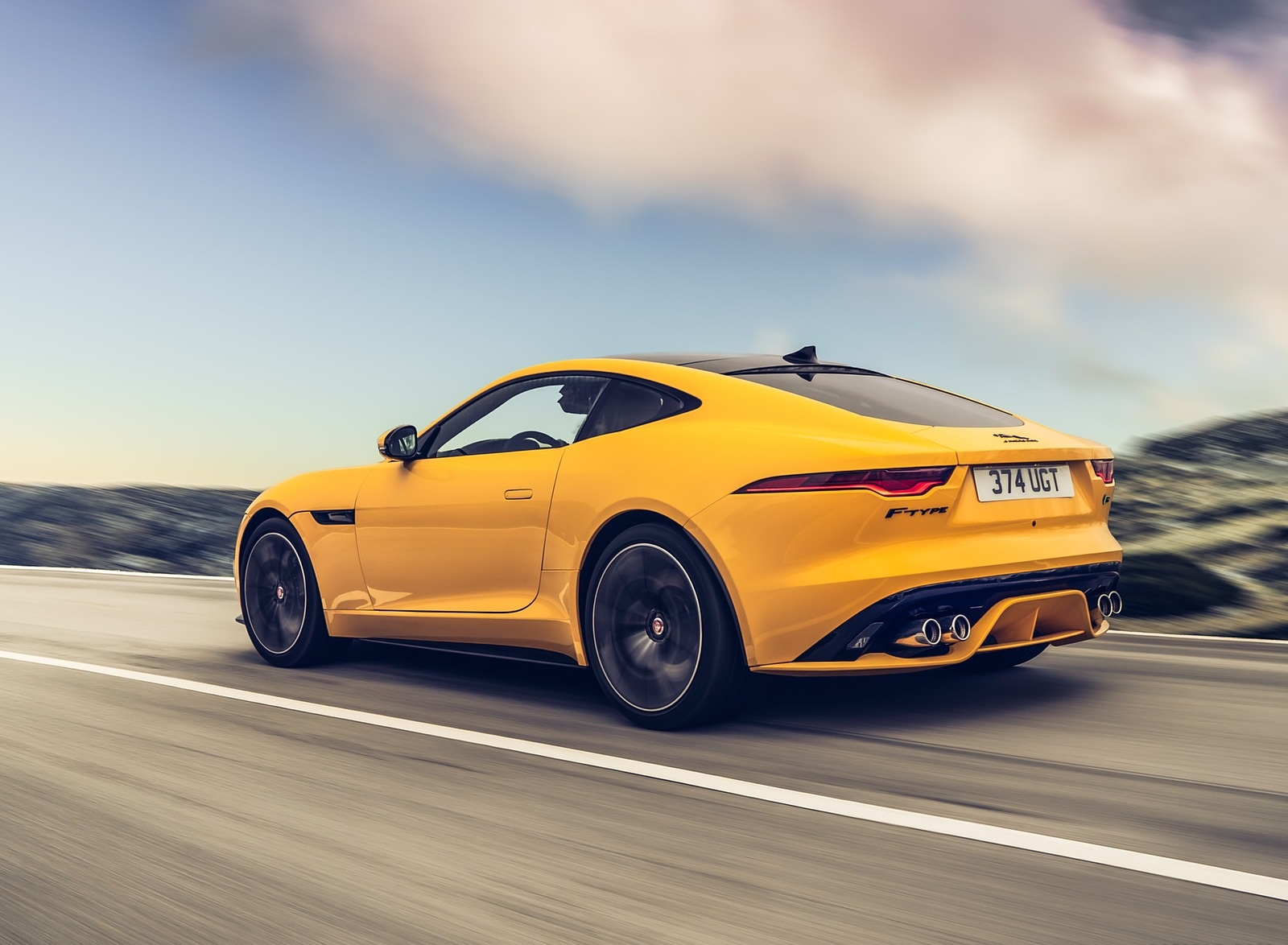 2021 Jaguar F-TYPE R Coupe AWD (Color: Sorrento Yellow) Rear Three-Quarter Wallpapers (5)